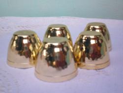 Csak a színe arany retro szép pálinkás fém poharak