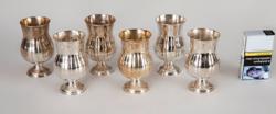 Ezüst kiddus pohár szett ( 6 darab)