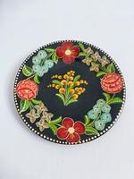 Antik.Gránit magyaros mintájú,virágos falitányér
