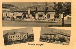 """*C"""" - 094 Futott magyarországi képeslapok  Abony - részletek.  (eredeti 60 filléres)"""
