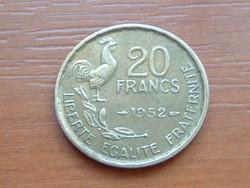 FRANCIA 20 FRANCS FRANK 1952 ( G. GUIRAUD) 4 TOLL,KAKAS #