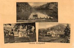 """*C"""" - 042 Futott magyarországi képeslapok  Tahitótfalu - részletek  (eredeti 60 filléres)"""