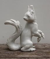 Allach porcelán figura - Allach squirrel/Eichhörnchen porcelain figurine