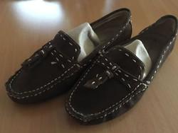 Női 36-os velúr cipő négerbarna