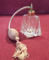 Antik pumpás parfümös üveg, parfümszóró