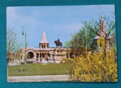 Budapest,Halászbástya Szent István szobrával 1972,futott