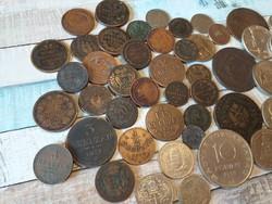 51db régi pénz ezüstökkel