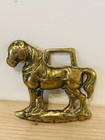 Bronz ló figura falra való