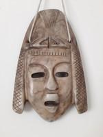 Perui márvány maszk indián totem falidísz