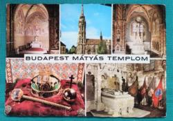 Magyarország,Budapest,Mátyás templom,használt képeslap,1974