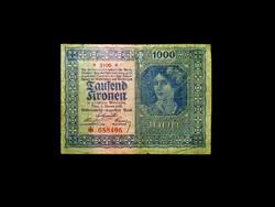 1000 KORONA - WIEN 1922 .- MA MÁR RITKASÁG