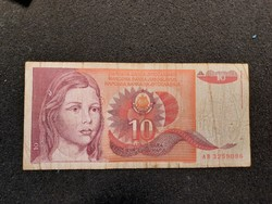 Jugoszláv 10 Dínár 1990