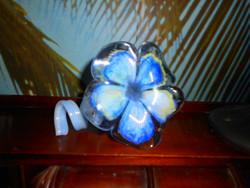Muránoi   kézműves üveg virág gyertyatartó