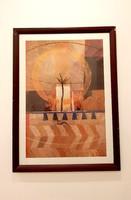 "Art Print ""Mosaik"" - Astrid Heinecke, fa keretben"