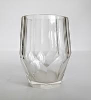 Antik bieder üveg pohár 9cm