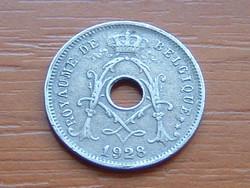 BELGIUM BELGIQUE 5 CENTIMES 1928 King Albert I. 75% réz, 25% nikkel csillag nélkül #