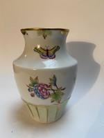 Herendi váza, Viktória mintás, 15 cm