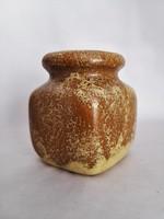 Török János egyedi mázas kerámia (terrakotta) váza, 1976.