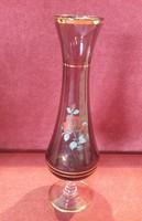 Talpas lila üveg váza