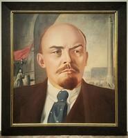 Ismeretlen festő 50-es évek Lenin Retró nagy méretű 92x86 cm