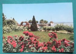 Magyarország,Balatoni képeslap - Révfülöp,Móló,futott, 1974