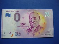 EURÓPAI UNIÓ 0 EURO 2019! OROSZORSZÁG LENIN 150.ÉVFORDULÓ! RITKA EMLÉK PAPÍRPÉNZ!