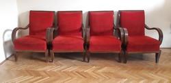Halabala art deco fotelek 4 db egyben