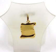 Arany véshető lapmedál (ZAL-Au92804)