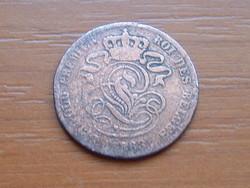 BELGIUM 2 CENTIMES 1863 King Leopold I. (keskeny felni) #