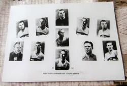 1954 MAGYAR FOOTBALL VÁLOGATOTT MINI TABLÓ Ritka