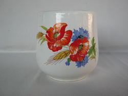 Gránit kerámia pipacsos pohár