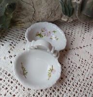 Zsolnay Barackvirágos asztali só-bors tartó sótartó fűszertartó nosztalgia darab   Gyűjtői darab
