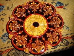 Szecessziós majolika fali tányér 20,5  cm Hibátlan, szép állapot