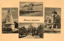"""*C"""" - 095 Futott magyarországi képeslapok  Gödöllő - részletek.  (eredeti 60 filléres)"""