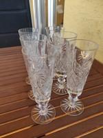 Ólomüveg kristály pezsgőspohár