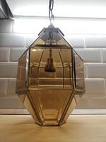 Réz Art Deco Kubista csillár lámpa