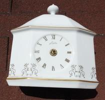 Junghans porcelán óra ház - ház alakú asztali óra ,(mutatók hiányoznak)
