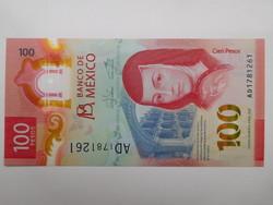 Mexikó 100 pesos 2020 UNC Polymer Az év legszebb bankjegye!