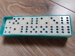 Vintage társasjáték orosz dominó zöld fehér hiányos (-1 db)