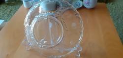 Gyönyörűséges nagyon üreg üveg tál - Átmérő: 21,5 cm magasság: 7 cm