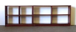 1C693 Kettő darab alacsony polc könyvespolc 81 x 251 cm