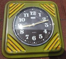 PALAS - nyugatnémet - zöld kerámia falióra -  vintage fali óra