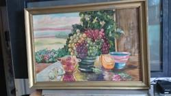 OSZTRÁK EXPRESSZIV ART DECO CSENDÉLET  kb 1930 ANTON KOLIG(1886-1950)szignált O/V 82x57