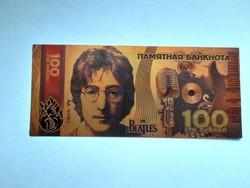 Új - aranyozott plasztik The Beatles 100 rubel