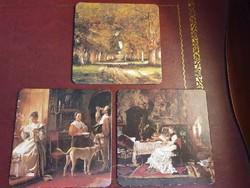 MUNKÁCSY MIHÁLY ( 1844-1900) művei poháralátéten RITKASÁG!