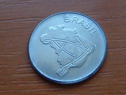 BRAZÍLIA BRASIL 10 CRUZEIROS 1983 TÉRKÉP (Thick Planchet 1,72 mm) #