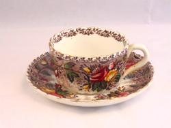 Antik Francia Opaque Utzschneider & Co, Sarreguemines fajansz teás csésze szett kb. 2,5 dl-es csészé