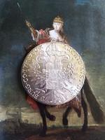 Habsburg Mária Terézia SF tallér 1780 / másolat / ezüstözött ötvözet