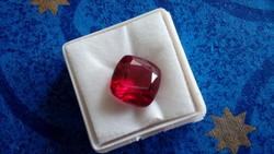 Természetes 10.45 karátos rubin drágakő tanúsítvánnyal