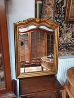 Faragott antik barokk aranyozott fa tükör